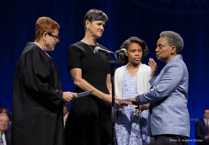 Lori Lightfoot sworn in.